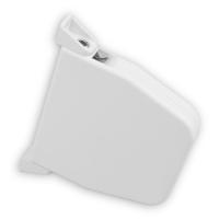 Mini Rolladen-Aufschraub-Gurtwickler | Lochabstand 145mm | schwenkbar | für 5m Gurt | weiß