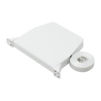Mini Rolladen-Aufschraub-Gurtwickler   Lochabstand 154 mm   schwenkbar   mit 5m Gurt   weiß