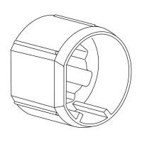 Mitnehmer für Rundwelle 50mm Rundwelle 50x1,5 | für Somfy Antriebe Baureihe 50