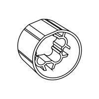 Mitnehmer für Rundwelle 63mm Rundwelle 63x1,5 | für Somfy Antriebe Baureihe 60