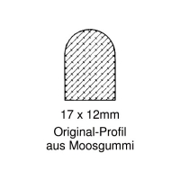Moosgummi-Dichtung MG006 | grau | 5 lfm