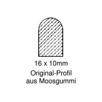 Moosgummi-Dichtung MG026 | grau | 5 lfm