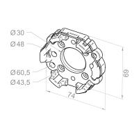 Motorlager aus Aluminium für Markisen | mit Gewinde M6/M8 | für RevoLine M & RevoLine L Antriebe