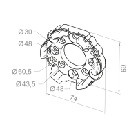 Motorlager aus Aluminium | für RevoLine M & RevoLine L Antriebe