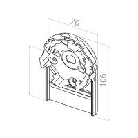 Motorlager für Vorbauelemente | Einbau links | Kastengröße 150mm | für RevoLine M Antriebe