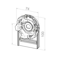 Motorlager für Vorbauelemente | Einbau links | Kastengröße 137mm | für RevoLine M Antriebe