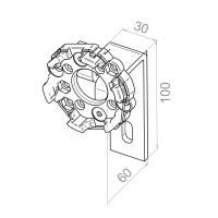 Motorlager gekröpft | 60mm Ausladung | für RevoLine M Antriebe