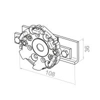 Motorlager / Klemmlager | für RevoLine M Antriebe
