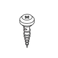 Nippelschraube für Kunststoff Rolladen-Führungsschiene | passend für RF 4049, RF 7049 | 100 Stück