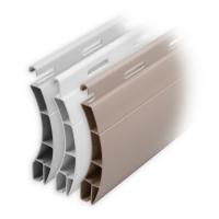 Kunststoff Rolladen Muster-Lamellen | Modell Ulm | Deckbreite 55mm