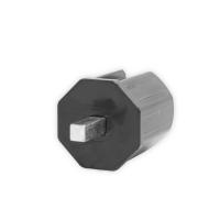 Rohrmitnehmer SW 40 Achtkant (38mm) für Schneckengetriebe 414Fxxx | für 7 mm Vierkant