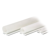 Rolladen-Abdichtung RD30 weiß | 21-32 mm Spaltabdeckung | 1250 mm Länge