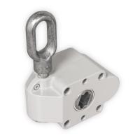 Schneckengetriebe für Markisen | 7:1 | RAL 7035 | 13mm Innenvierkant | mit Endanschlag