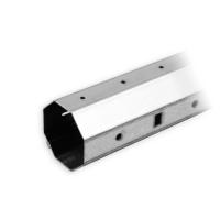 Stahlwelle SW 40 Achtkant | Wandstärke 0,8 mm | mit außenliegendem Falz | Länge 800 mm