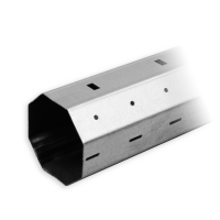 Stahlwelle SW 60 Achtkant | Wandstärke 1,0 mm | mit innenliegendem Falz | Länge 1000 mm