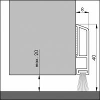 Türboden-Dichtung TB003 | Länge 1 m | weiß