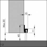 Türboden-Dichtung TB018 | Länge 1 m | aluminium pressblank