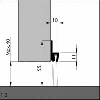 Türboden-Dichtung TB021 | Länge 1 m | Stahlblech