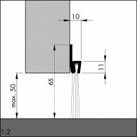 Türboden-Dichtung TB022 | Länge 1 m | Stahlblech