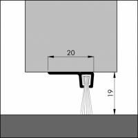 Türboden-Dichtung TB024 | Länge 1 m | aluminium pressblank