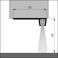 Türboden-Dichtung TB026 | Länge 1 m | aluminium pressblank