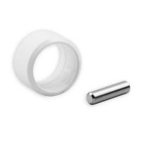 Verbindungsstift mit Sicherungsring | für Kurbelstangen mit 11,9 mm Zapfen | weiß