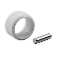 Verbindungsstift mit Sicherungsring | für Kurbelstangen mit 9,9 mm Zapfen | grau