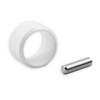 Verbindungsstift mit Sicherungsring | für Kurbelstangen mit 9,9 mm Zapfen | weiß