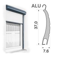 Vorbaurolladen mit Mini Aluminium (ALU) Rolladen | 37 x 7,6 mm