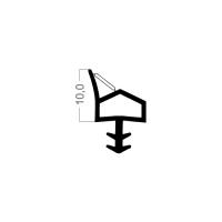 Zimmertür-Dichtung ZT005 | weiß | 5 lfm