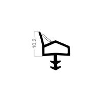Zimmertür-Dichtung ZT007 | weiß | 5 lfm
