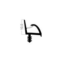 Zimmertür-Dichtung ZT009 | weiß | 5 lfm