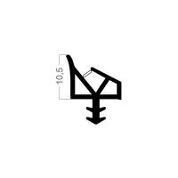 Zimmertür-Dichtung ZT053 | weiß | 5 lfm